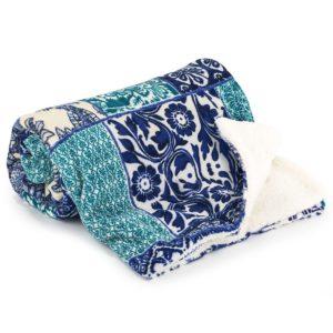 4Home Baránková deka Flowers modrá