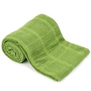 Bavlnená deka zelená