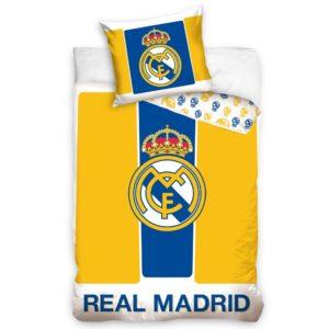 9a04339c791e1 BedTex Bavlnené obliečky Real Madrid Yellow stripes, 160 x 200 cm, 70 x 80  cm