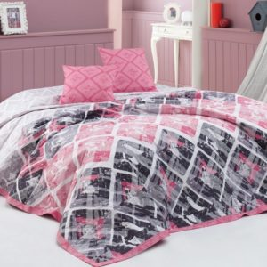 BedTex Prehoz na posteľ Riviéra ružová