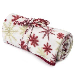 Fleecová deka Vločka červená