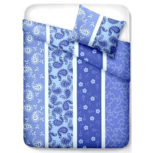 Krepové obliečky Pallas Vzor modrá
