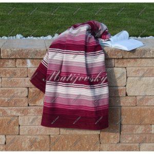 Matějovský bavlnená deka Summer vínová