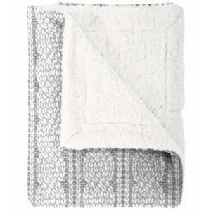Mistral Home Baránková deka Cable knit sivá