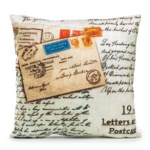 Obliečka na vankúšik Letters Postcard