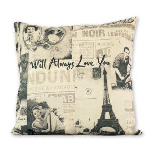 Obliečka na vankúšik Gold Paris love