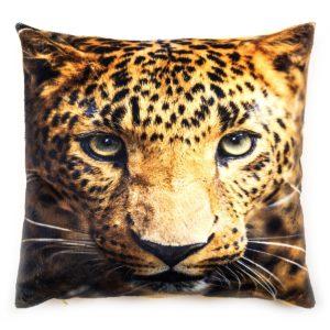 Obliečka na vankúšik mikroplyš Leopard