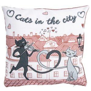 Obliečka na vankúšik Mačky v meste