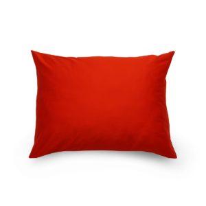 Obliečka na vankúš satén červená / biela