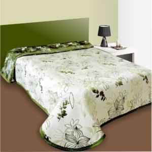 Prehoz na posteľ Lisbon zelený