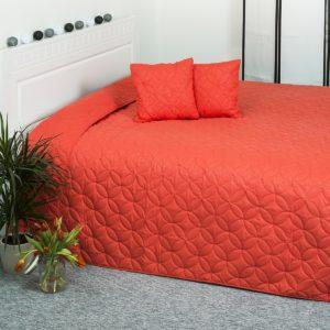 4Home prehoz na posteľ Mariposa oranžová