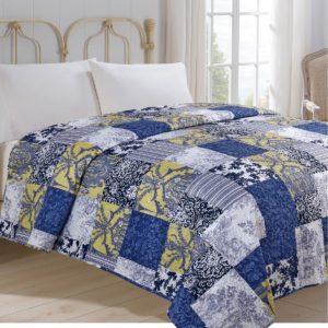 Prehoz na posteľ Modrotlač
