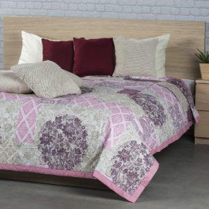 Prehoz na posteľ Ottorino fialová