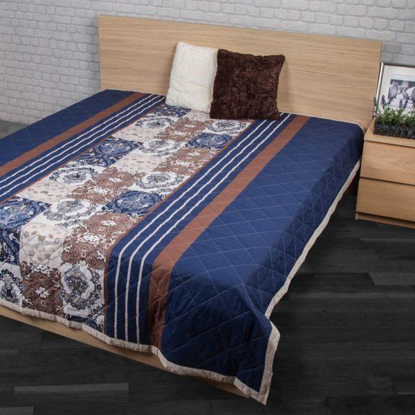 Prehoz na posteľ Paolina modrá
