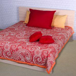Prehoz na posteľ Sal červená/biela