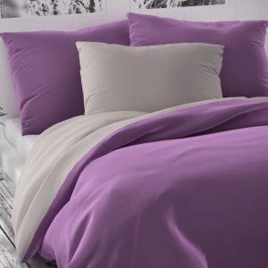 Saténové obliečky Luxury Collection fialová/sv. sivá