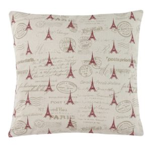 Vankúšik Ivo Eiffelovka červená