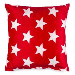 Vankúšik mikroplyš Stars červená
