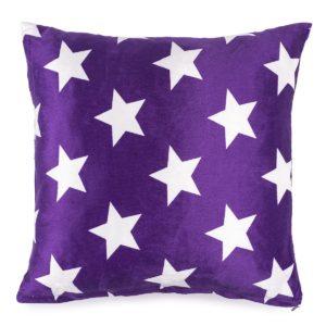 Vankúšik mikroplyš Stars fialová