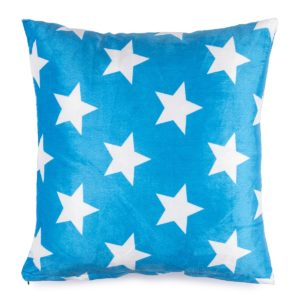 Vankúšik mikroplyš Stars modrá