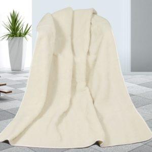 Vlnená deka biela