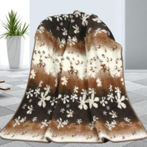 Vlnená deka Kvety