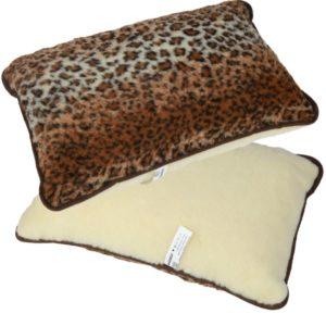 Vlnený vankúš Merino leopard