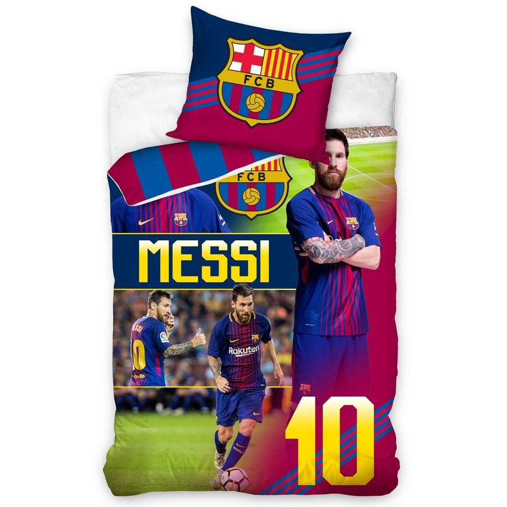 f73a869f69027 Carbotex Bavlnené obliečky FC Barcelona Messi, 140 x 200 cm, 70 x 90 ...