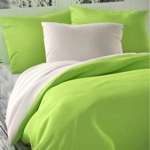 Saténové obliečky Luxury Collection biela/sv. zelená