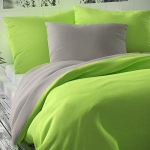 Saténové obliečky Luxury Collection sv. zelená/sv. sivá