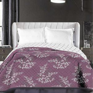 DecoKing Prehoz na posteľ Calluna fialová