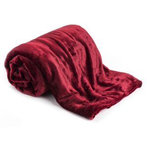 Deka XXL / Prehoz na posteľ červená