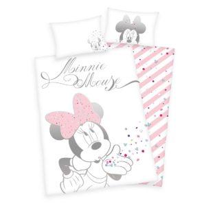 Detské bavlnené obliečky do postieľky Minnie Mouse