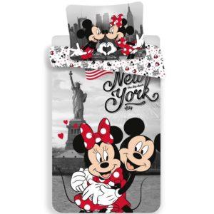 Detské bavlnené obliečky Mickey and Minnie in New York