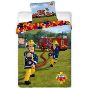 Detské bavlnené obliečky Požiarnik Sam 008