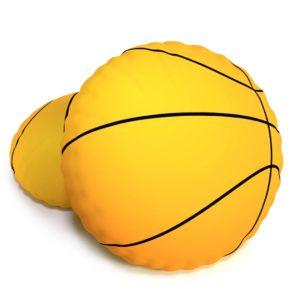 Tvarovaný 3D vankúšik Basketbalová lopta Baskeťák