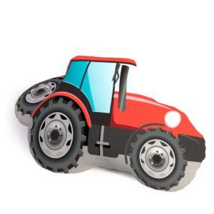 Tvarovaný 3D vankúšik Traktor