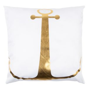 Vankúšik Gold De Lux Kotva biela