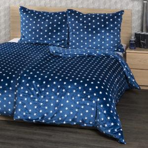 4Home obliečky mikroflanel Stars modrá