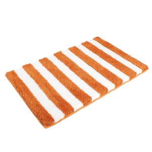 Matějovský Kúpeľňová predložka SOFT Pruhy oranžová