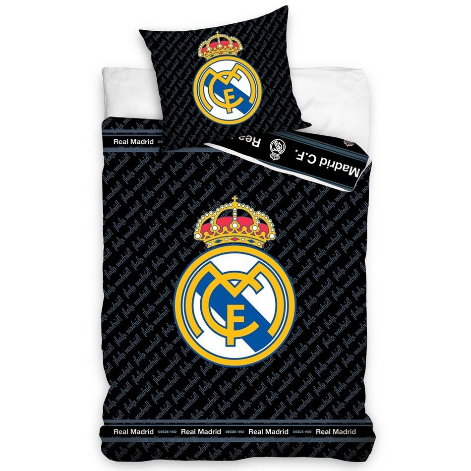 7485413d8 Carbotex Bavlnené obliečky Real Madrid Blue Letters, 140 x 200 cm ...