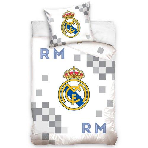 52f537aa26ebe Carbotex Bavlnené obliečky Real Madrid Dados Grey, 140 x 200 cm, 70 ...