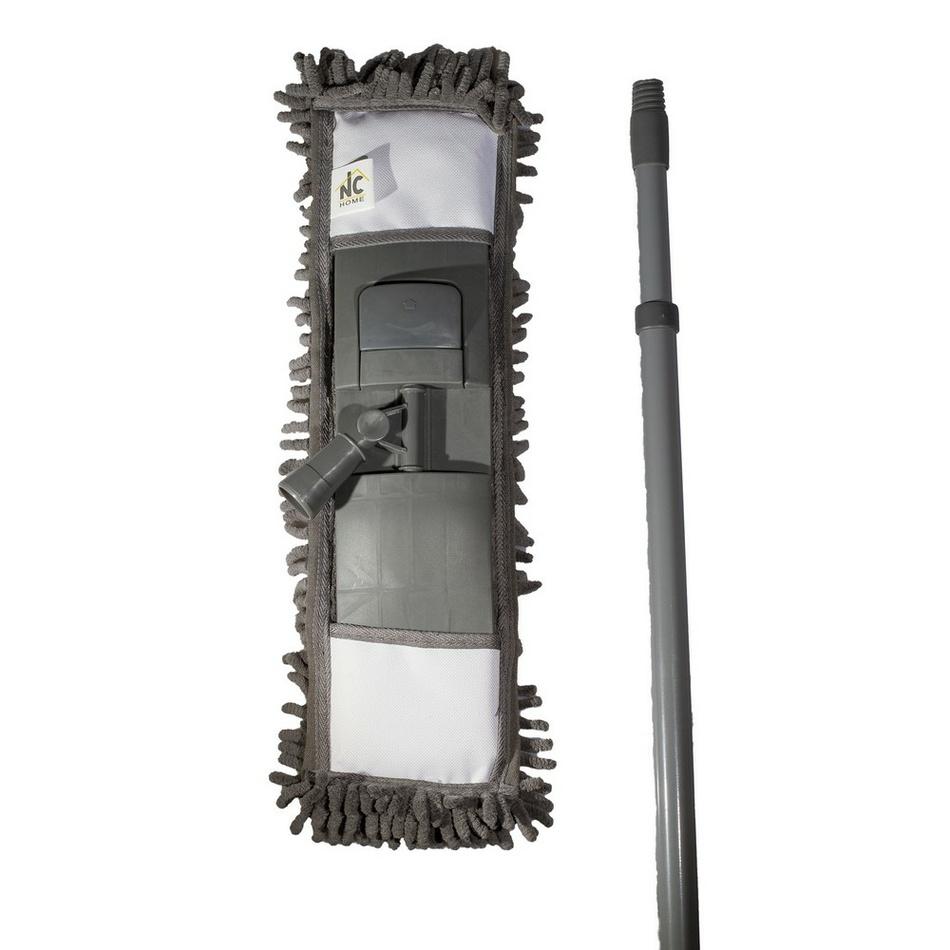 Mop GREY CHENILLE so ženilkovým mikrovláknom 12 x 41 cm a s teleskopickou tyčou 68-120 cm
