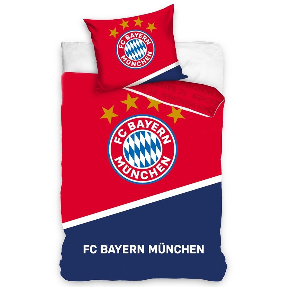 Bavlnené obliečky FC Bayern Mnichov Blau Boden